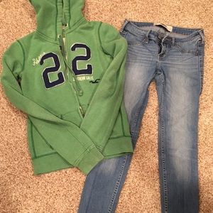 Hollister Sweater and Jeans